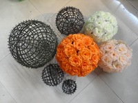 5psc/lot   Artificial flower sphere bouquet silk flower decoration flower wedding bouquet materials rack
