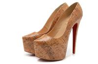 vintage style genuine leather high platform slimmer highheels shoes