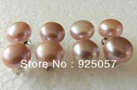 Wholesale 10-11MM Purple AKOYA Sea Pearl Earrings 4Pair AAA+Fashion jewelry