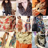 Design chiffon long silk scarf women's scarf autumn and winter female leopard print scarf