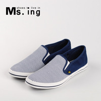 Chinese style wholesale and retail Elastic canvas shoes single shoes plus size men 42 43 44 sm074