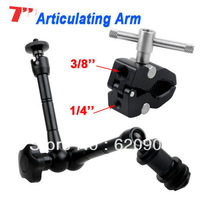 "DHL 100% GUARANTEE 10 pcs  7"" Metal Magic Arm + Super Clamp for Monitor Flash Camera LED Video Light"