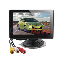 4.3inch TFT LCD car rearview system vehicle monitor with 2 channel video input + support NTSC / PAL free shipping