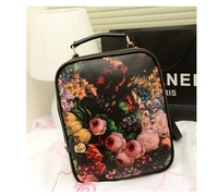Trendy Fashion new double sided print pattern candy color four seasons backpack women's handbag size 41*31*12cm