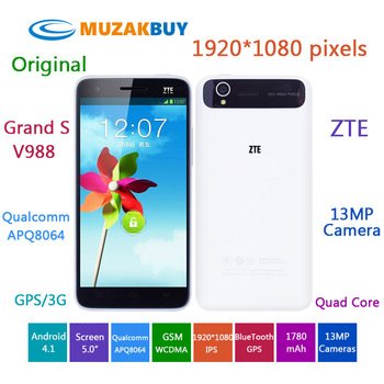 100 Original Android Phone luxury phones 2.0 Mega Pixel Front Camera 13.0 Mega Pixel Back Camera Quad Core 2GB RAM 16GB