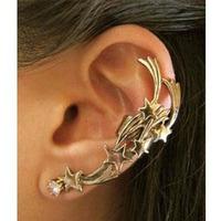 #148 2013 New Gothic Punk Star Ear Cuff Ear Clip Rhinestone Stud Earrings For Women  Free Shipping