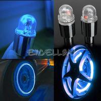 1 Pair Cycling Bike Bicycle Neon LED Wheel Spoke Valve Cap Alarm Wheel Lights E1