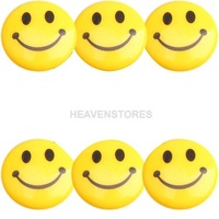 Round Cartoon Smile Smiley Face Refrigerator Sticker Fridge Magnet Toy 6 Pcs hv3