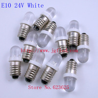 Factory Outlet:E10 24V White Screw plug LED Indicator LED bulb  50pcs/lot