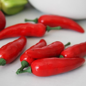 Hot Decorative Flowers simulation vegetable 6CM Mini Chili peppers model hotel home decoration 20pcs/lot free shipping