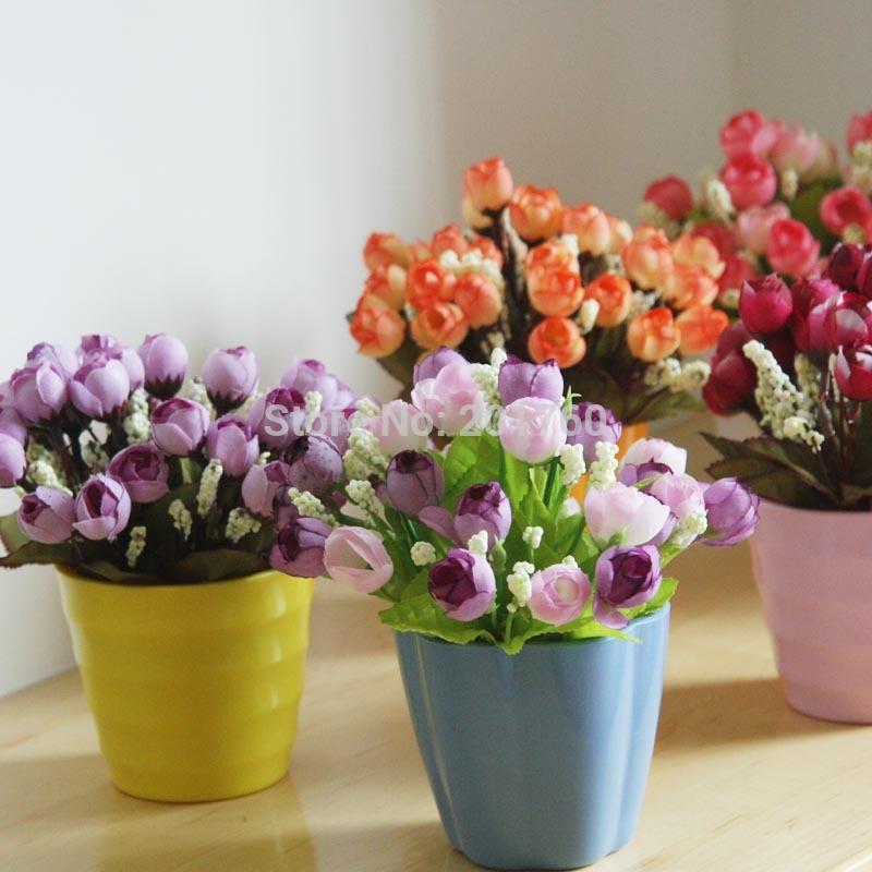 simulação flor de mini arranjos de flores copo decoração geral floral flor artificial frete grátis(China (Mainland))
