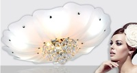 60cm Circle k9 crystal ceiling light modern brief cubicity size lighting colorful led lighting