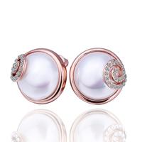 18K Gold Plated Earrings, Czech Crystal Earrings Free shipping wholesale 18K Gold jewelry  18krgpe383