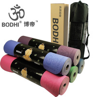Bodhi professional tpe yoga pad eco-friendly thickening 6mm lengthen 183cm yoga backpack