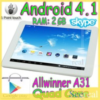 "8 Inch Tablet Allwinner A31 Tablet Quad Core 2GB 16GB 1024*768 Wifi HDMI Android 4.1 8"" Tablet PC Capacitive Touch Screen"