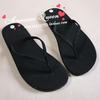 Lovers design black flip flops slippers sandals flat sandals Women slippers plus size available