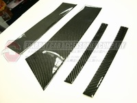 REAL CARBON FIBER VW 2009-2011 PASSAT CC DOOR PILLAR COVERS (Brand new, no MOQ,In stock, Free shipping)