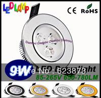 30pcs Fast Arrive High Quality LED Downlights lamp light 6W 9W Black/Golden/Silver 85~265V for Worldwide Downlight
