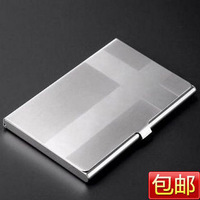 Cross specular wiredrawing stainless steel white metal card stock business card box