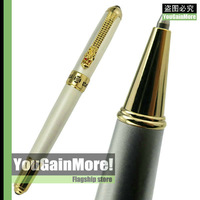 JINHAO 1000 PEARL WHITE MESH SCALES ROLLER BALL BALLPOINT PEN DRAGON CLIP GOLD TRIM NEW HOT SELL