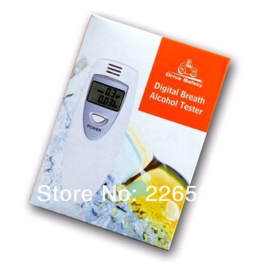 Wholesale 100Pieces White Car Gadget LED Digital Breathalyzer Alcohol Tester Alcohol Analyzer(China (Mainland))