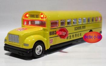 free shipping Alloy car model toy plain school bus school bus