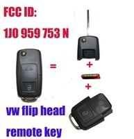 1J0 959 753 N FLIP HEAD KEY REMOTE TRANSMITTER FOR 1998-2000 FOR VW PASSAT GOLF MK4