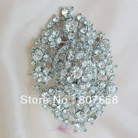 12 pieces/lot Pretty Shimmer fashion rhinestone flower brooch pin for party dress, wedding, wholesale and retail, item : BH7375