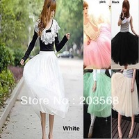 hot summer Womens Stylish 5 Layers Tutu Skirt Petticoat Knee-Length Mini Dress