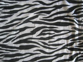 Diy fabric animal print-zebra+free shipping