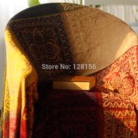 Tibetan red chenille sofa cloth sofa blanket piano cover bed cover