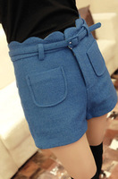Women's all-match shorts woolen massifs the waves boot cut jeans shorts