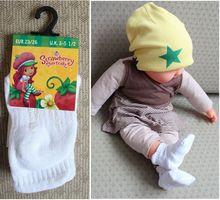 Cotton baby 100% glue socks baby socks slippers sock slip-resistant  floor socks qhitw/grey(China (Mainland))