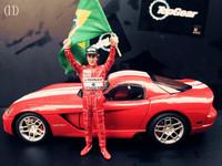 free shipping Senna dolls stig car model autoart kyosho cars (Just doll model)
