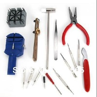 Free Shipping 16 Pieces Watch Repair Kit Set Wrist Strap Adjust Pin Tool Kit Back Remover Fix