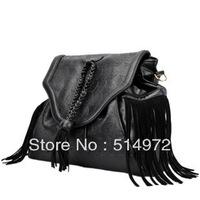Best Selling!!2013 new fashion punk women Tassel Shoulder Bag ladies messenger bag skull print handbag Free Shipping