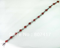 Fashion Trendy  Red agate stone  S 925 silver Bracelet  B0624
