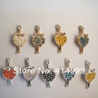 Wholesale12pcs/lot Heart Charm Findings Jewelry Components Factory direct sale Alloy Charm Accessories Bracelet Connectors AC57
