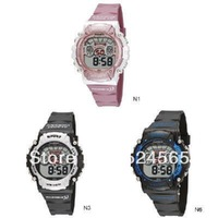 Free Shipping HighQuality Color Block PASNEW LED Water-proof Boys Girls Sport Watch 905086-P-278B-N1