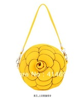 2012 fashion new genuine women leather flower messenger bags[240112]