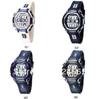 Free Shipping HighQuality Color Block PASNEW LED Water-proof Boys Girls Sport Watch 905086-P-251G-N1