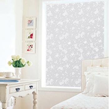 Free shipping Flower print scrub glass film glass stickers 90 45cm e7961
