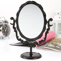 Free shipping Rose flower desktop mirror vintage e9911 makeup mirror
