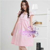 2013 maternity clothing summer 100% cotton one-piece dress maternity short-sleeve dress one-piece dress
