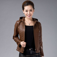 Free shipping !!! 2013 spring leather clothing women's slim genuine leather sheepskin short leather jacket female design