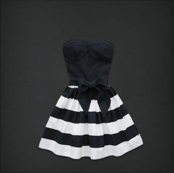 new brand woman dress braces skirt ladies fashion dress clothes brand dress 6001