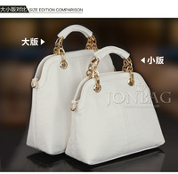 free shipping 2013 Hot Sale Fashionable PU Croco lady shoulder bag used for shopping and office