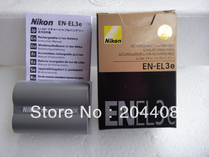 1pc sample,EN-EL3E EN EL3E Digital camera replacement lithium Battery pack for Nikon D200, D300, D700, D90, D8(China (Mainland))