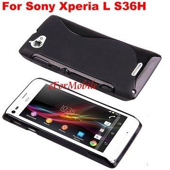 2013 New TPU Skin Cover Back Case Anti-slip case Mobile Phone Case  For Sony Xperia L S36H C2105 C2104
