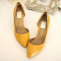 2013 single shoes shallow mouth pointed toe fashion leather shoes handmade shoes ol